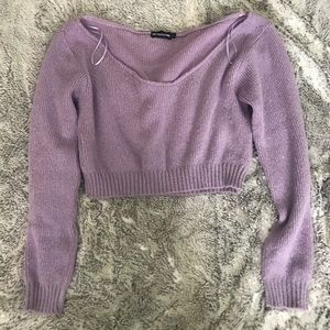 Lilac knit croped sweater